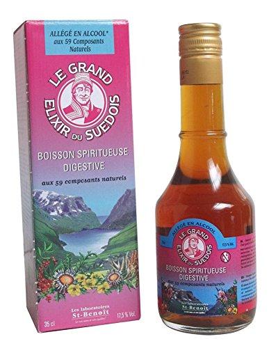 Saint benoit - Elixir du suédois 17.5° - 350 ml flacon - Recette originale teneur réduite en alcool