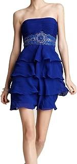 Studio S.W. Sue Wong Women's Strapless Cocktail Dress 8 Sapphire Blue
