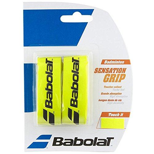 Babolat Badminton Sensation Grip Cinta para mango de raqueta, 2 unidades amarillo