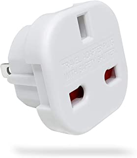 UK to US Travel Adaptor Plug with Safety Shutter and Rotatable Pins, Suitable for People from UAE/UK/EU/KSA/HK/Singapore T...
