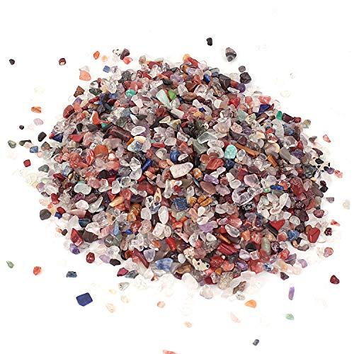 Shiny Stone Pierres en cristal naturel coloré pour aquarium, décoration pour aquarium, maison, jardin, décoration (cristal coloré, 4–6 mm)