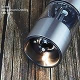 ZOYJITU Salz und Pfeffermühle (2er Set) – Batteriebetrieben | LED Licht | Einstellbare Feinheit | Edelstahl | Verbesserter Modell - 4