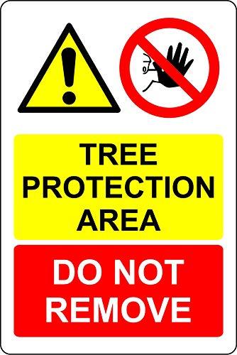 Boombescherming gebied niet verwijderen Forest Safety teken - Zelfklevende sticker 300mm x 200mm