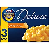 Kraft Deluxe Original Cheddar Macaroni & Cheese Dinner (3 ct Pack, 14 oz Boxes)
