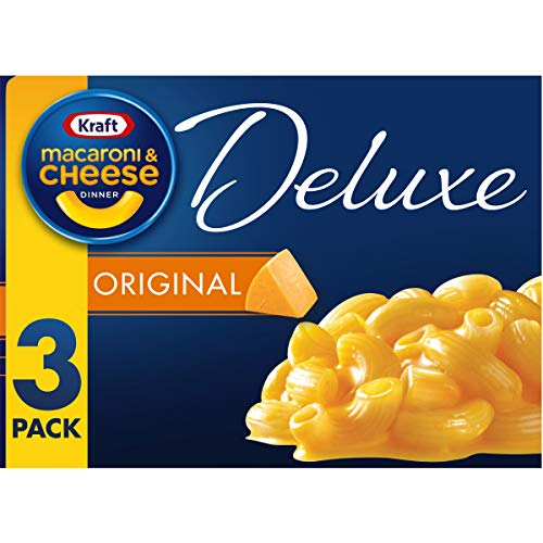 Kraft Deluxe Cheddar Macaroni and Cheese Meal 14 oz Boxes Pack of 3