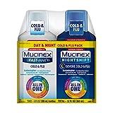 Maximum Strength Mucinex Fast-Max Cold & Flu and Nightshift Severe Cold & Flu All-in-One Multi Symptom Relief Liquid - 2 x 6 fl oz (Pack of 6)