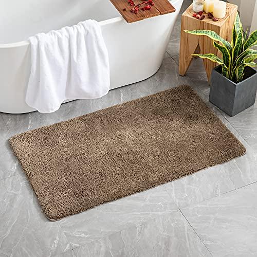 MIULEE Teppich Badematte Badezimmerteppich Bettvorleger rutschfest Badteppich Badvorleger Saugfähige Duschvorleger Waschbar Fussmatte für Wohnzimmer Schlafzimmer Badezimmer 70x120 cm Kaffee