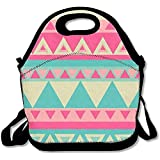 Aztec modello portatile grandi e spessi neoprene lunch Bags lunch Tote Bags Cooler calda calda borsa con tracolla per le donne teenager ragazze bambini adulti