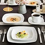 MALACASA Serie Julia, Tafelservice 30-teilig Kombiservice Porzellan Geschirrset mit je 6 Kaffeetassen, 6 Untertassen, 6 Kuchenteller, 6 Suppenteller und 6 Flachteller Kaffeeservice für 6 Personen - 7