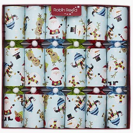 Racing Snowman Christmas Cracker Party Favors - Set of 6 Racing Game Snowman Favors