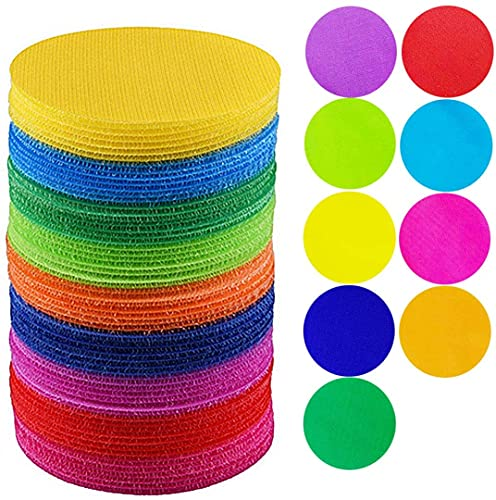 "Mark Its Sitting Carpet Spots to Educate,Carpet Markers Spot Markers Carpet Spots for Classroom Preschool and Kindergarten,4"" Rug Circles Marker Dots for Preschool, Kindergarten Twister Floor Musical"