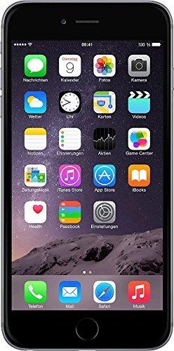 Apple iPhone 6 - Smartphone - Display 4.7' (dual-core 1.4 GHz, 1GB di RAM, 16 GB Memoria interna, 8 MP fotocamera, iOS), Grigio - (Ricondizionato) [include spina europea]