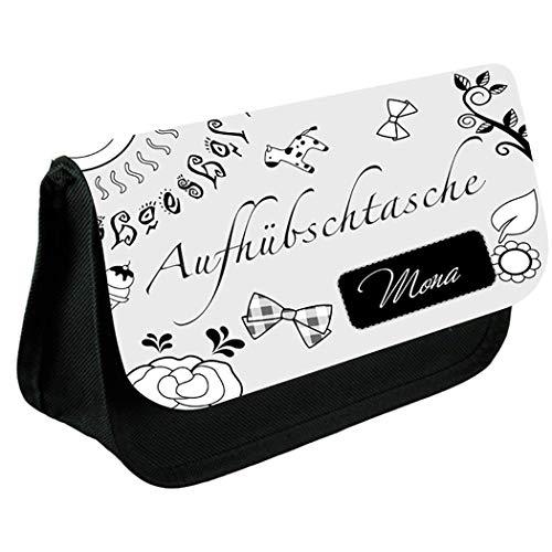 Livingstyle & Wanddesign Kosmetiktasche Schmink-9 (Aufhübschtasche) mit Namen, 2 L