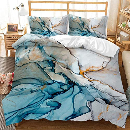 QXbecky Flow Color Texture Series Bedding, Quilt Cover and Pillowcase 3 Piece Set, Environmentally Friendly Reactive Printing and Dyeing