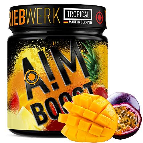 AIM BOOST | Tropical | 40 Portionen | 23 Wirkstoffe | 247mg Koffein + Tyrosin +Theanin + Vitamine…