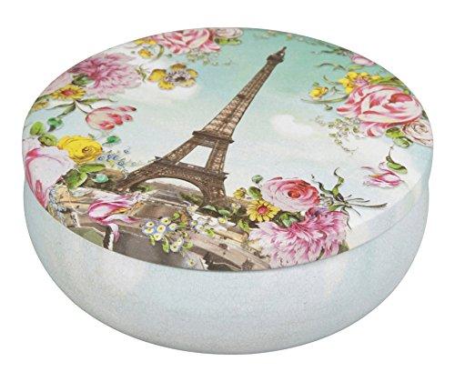 Clairefontaine 83201C - Une boite ronde en métal Les Cakes de Bertrand diamètre 13 cm - modèle aléatoire