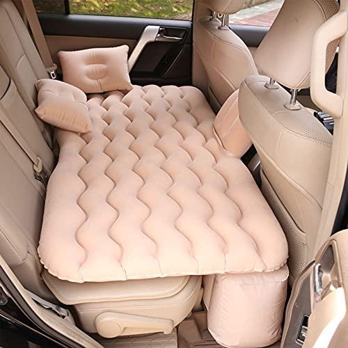 XUNTUO Cama inflable para coche SUV – para descanso, viajes, camping, universal, para todos los vehículos SUV 135 x 70 cm, color beige