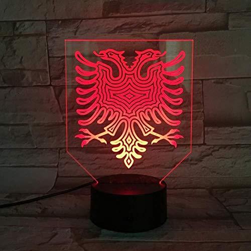 Le Double-dirigé Eagle Led lampe de nuit lumière multicolore RVB sommeil visuel Festival de cadeaux lampe ambiance Veilleuse 7 couleurs lumière de nuit