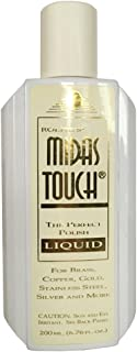 Rolite's Midas Touch Metal Polishing Liquid (6.76 fl. oz.) with Jewelers Rouge for Gold, Brass, Copper, Bronze, Platinum, Pewter, Sterling Silver