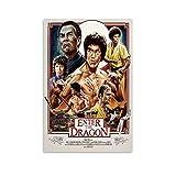 FDKJ Poster Bruce Lee, dekoratives Gemälde, Leinwand,