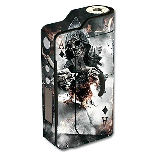 Skin Decal Vinyl Wrap for Sigelei 150W TC Temp Control watt Vape Mod Box / Ace Diamonds Grim Reeper Skull