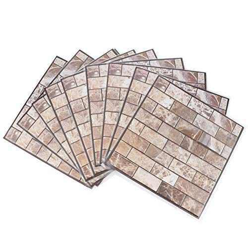 10 unids / set mármol autoadhesivo ladrillo mármol madera textura papel tapiz 3D azulejos para parachoques pegatinas viene con adhesivo baño cocina pared arte calcomanía decoración pegatinas para sala