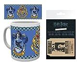 HARRY POTTER 1art1, Stemma di Corvonero Tazza da caffè Mug (9x8 cm) E 1, Porta Carte di Credito (10x7 cm)