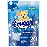 Snuggle Exhilarations In-Wash Laundry Scent Booster Pacs, Blue Iris Bliss, 20 Count