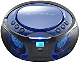 Radio CD Portátil Lenco SCD-550BU Azul, Bluetooth, USB, Radio FM