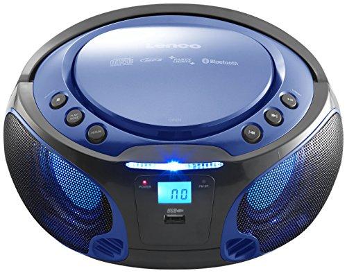 Radio CD Portátil Lenco SCD-550BU Azul, Bluetooth, USB, Radio FM