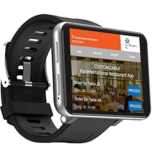 Kaizizi Reloj inteligente GPS con cámara HD de 5 MP, 3 GB + 32 GB 2700 mAh, pantalla LCD de 2,8' para hombres y mujeres, reloj de frecuencia cardíaca podómetro gris 1+16GB