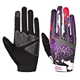 Riders Trend 10010105 Cross Country/Motocross Bicycle Riding Gloves, Guanti Uomo, Nero/Viola, L