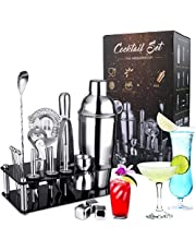 Cocktail Shaker Set,SPLAKS 21 PCS Cocktail Making Set 750 ml Cocktail Mixer Stainless Steel Bar Tool Bartender Kit with Display Stand for Bar Party GiftChristmas Birthday