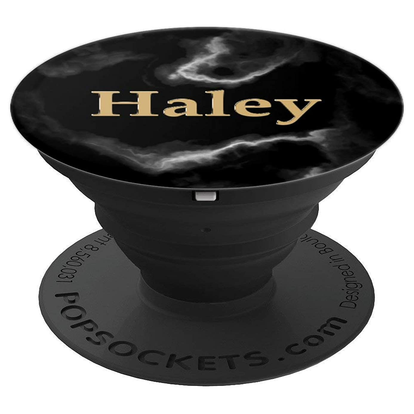Haley First Name Elegant And Chic Smoke Design - PopSockets Grip and Stand for Phones and Tablets