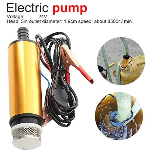 HKJKJLL Bomba eléctrica Sumergible de aleación de Aluminio DC 12V para Transferencia de Diesel/Aceite/Agua/Combustible 24 voltios
