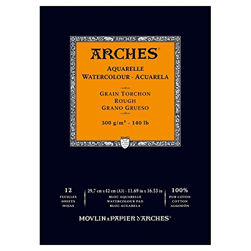 Arches Watercolor Paper Pad, 140 pound, Rough, 11.69'x16.53'