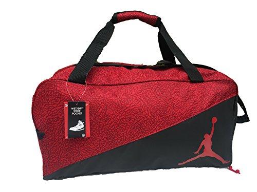 Nike Jordan Jumpman Sports Elemental Duffel Bag (Gym Red)
