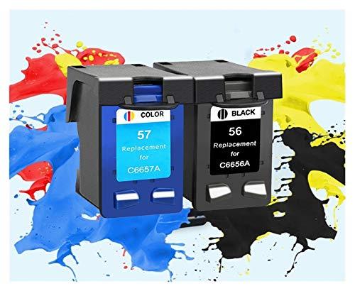 LIUYB Sustitución de Cartucho de Tinta Compatible for HP56xl 57xl 5150 450Ci 5550 5650 7760 9650 PSC 1315 1350 2110 2210 2410