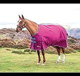 Shires Highlander Pferdedecke, 300 g, schwer, Himbeere