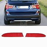 YUK - Par de luces de advertencia para BMW F25 X3, parachoques trasero, marcador lateral, reflector rojo 2011 – 2014