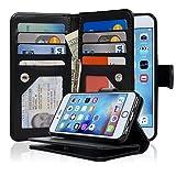 NAVOR® Detachable Magnetic Housing Flip Wallet Case for iPhone 6 / 6S [4.7