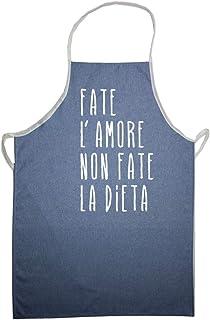 Delantal de cocinero vaqueros con frases divertidas y divertidas, 70 x 90 cm, estampado con Transfer, fabricado en Italia