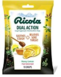 Ricola Dual Action Honey Lemon Drops, 19 Count per Pack - 24 per case.