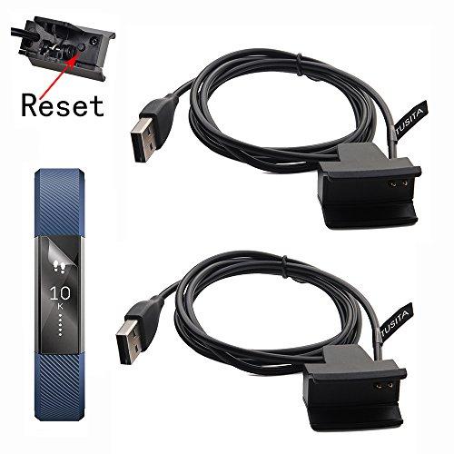 TUSITA [2-PACK] Oplaadkabels Met Resetknop voor Fitbit Alta / Fitbit Ace - USB Vervangende Oplaaddock Laadclip Oplader Opladen kabel 100cm - Smart Fitness Activity Tracker Accessoires