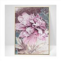 HETHYAN ポスターローズフラワーフェザースタイルウォールアートプリントキャンバスモダンな絵画リビングルームの装飾写真 (Color : 3, Size (Inch) : 10x15cm)