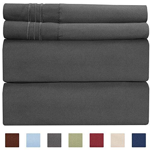 Extra Deep Pocket Sheets - 4 Piece Sheet Set - Twin XL Sheets Deep Pocket - Extra Deep Pocket XL Twin Sheets - Deep Fitted Sheet Set - Extra Deep Pocket Twin XL Size Sheets - Fits Extra Deep Mattress