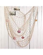 Aofox Dekorativt fiskenät, dekor, medelhav, pirat, strand, temafests-dekoration