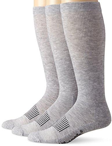 Wrangler Men's Western Boot Socks (Pack of 3),Grey,Sock Size:X-Large(12-15)/Shoe Size: 12-16