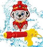 PAW PATROL Mochila con Pistola De Agua Marshall | Portátil con Correas Ajustables | Divertido Juguete para Niños Al Aire Libre A Partir De Los 3 Años