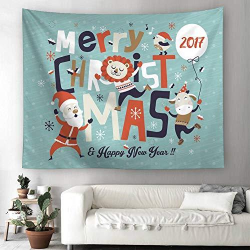 ZWBBO wandtapijt Kerstmis Halloween Beach Cover Up Tuniek Wandtapijt Slaapkamer Home Decor Bed Cover Tafelkleed (150x200cm)